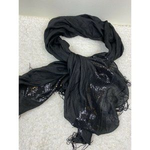 NEW INC Sequin Party Wrap with Tassel Trim